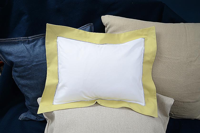 Baby Pillow Sham. Chardonnay colored