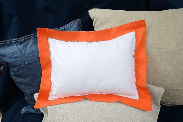 Baby Pillow Sham. Exotic Orange