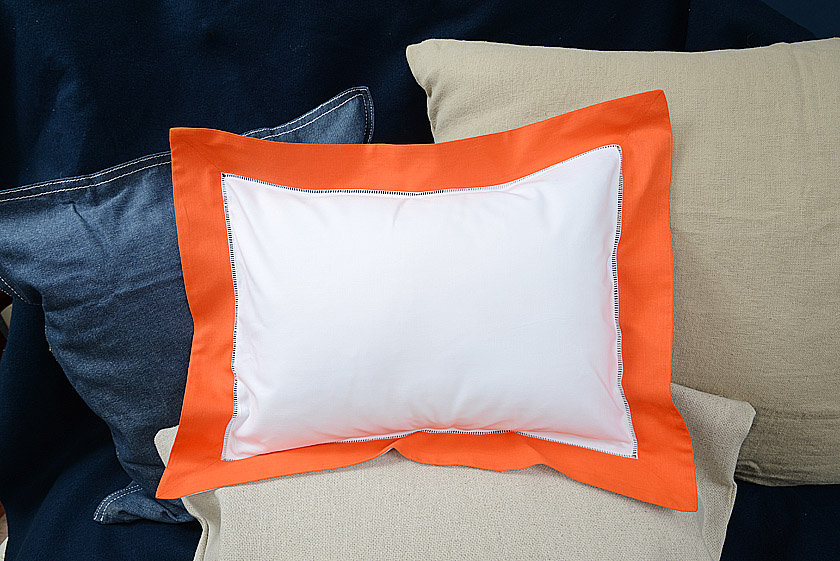 Baby Pillow Sham. Exotic Orange