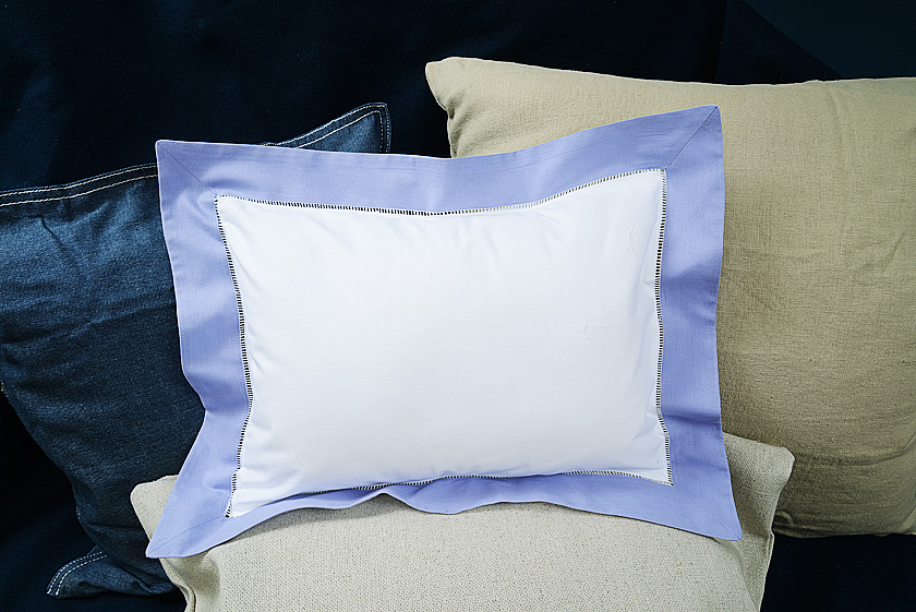 """Baby Pillow Sham. 12x16"""". Lavender colored trimmed"""