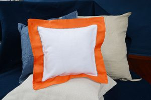 Baby Square Pillow. Exotic Orange