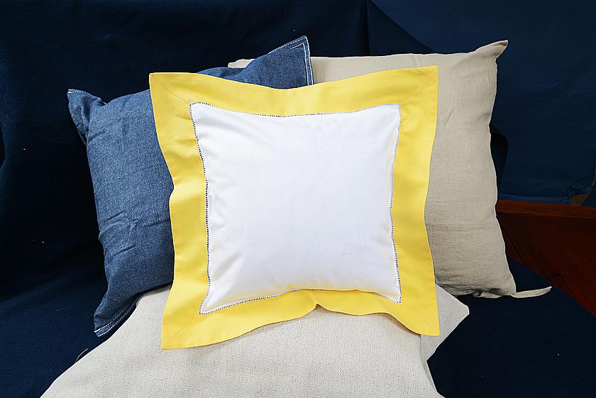 Baby Square Pillow, Golden Kiwi colored trimmed
