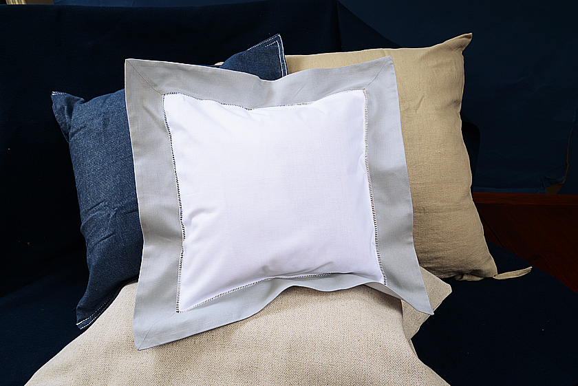 Baby square pillow, slate gray colored