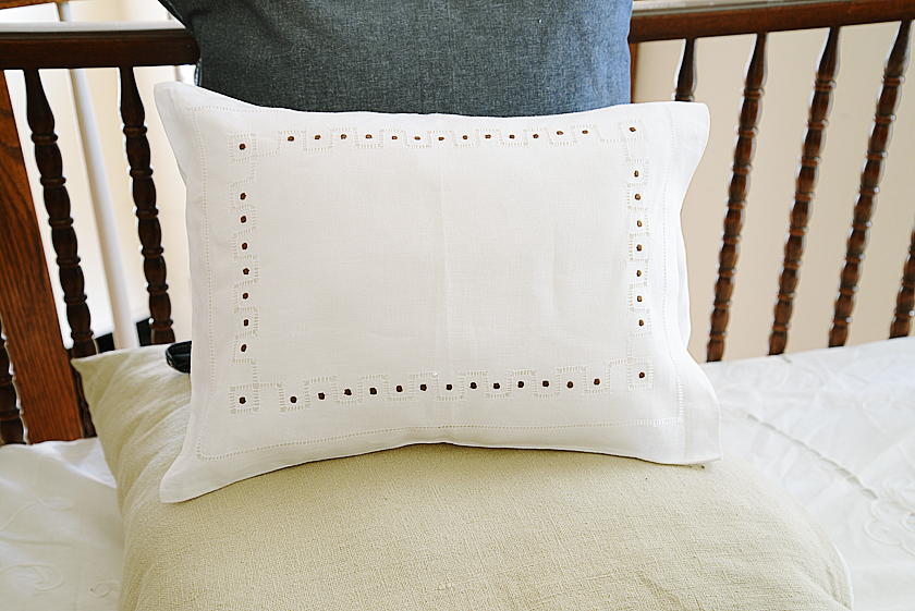 baby pillowcase brown colored polka dots