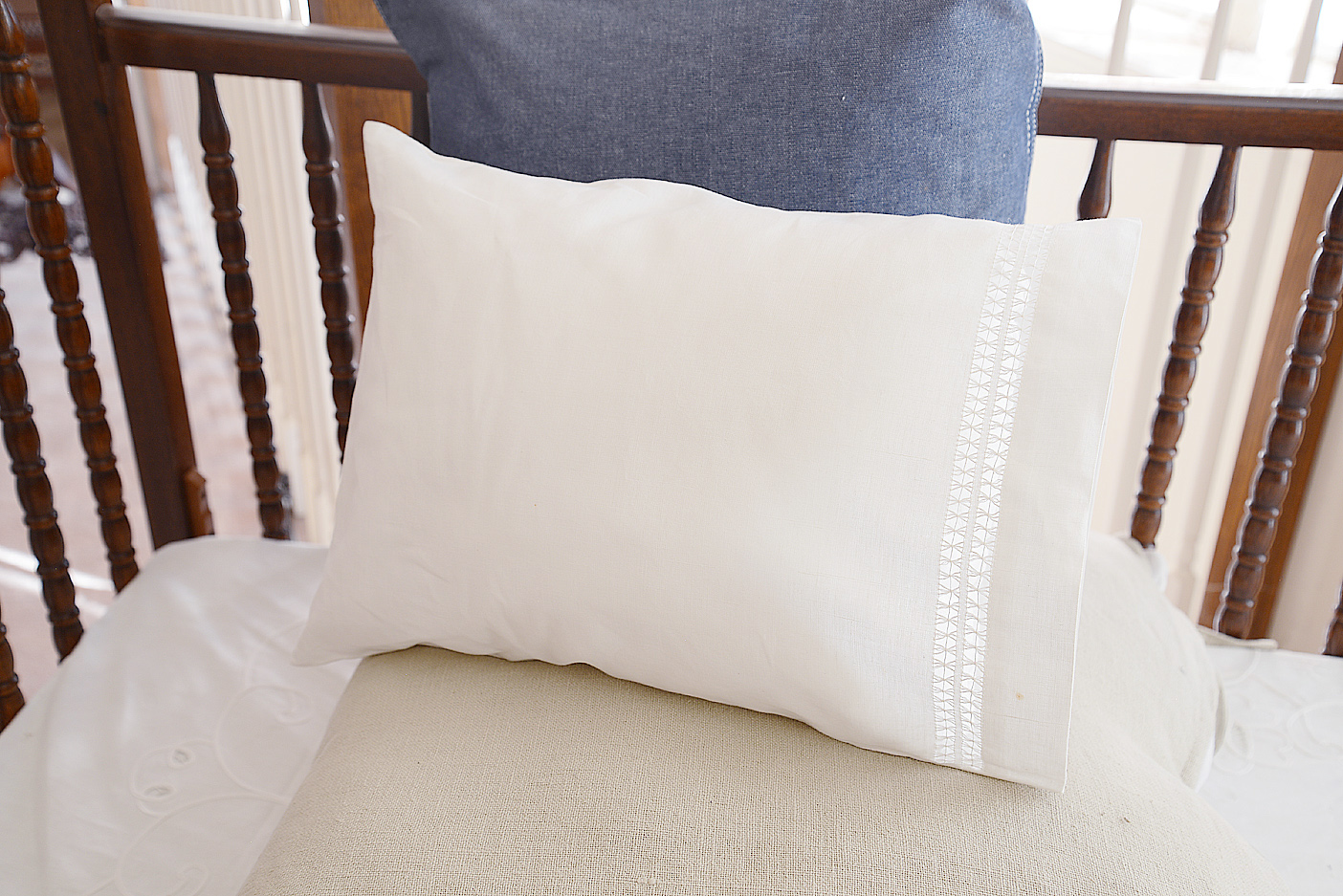 Baby Pillowcase with Double Twisted Hemstitch