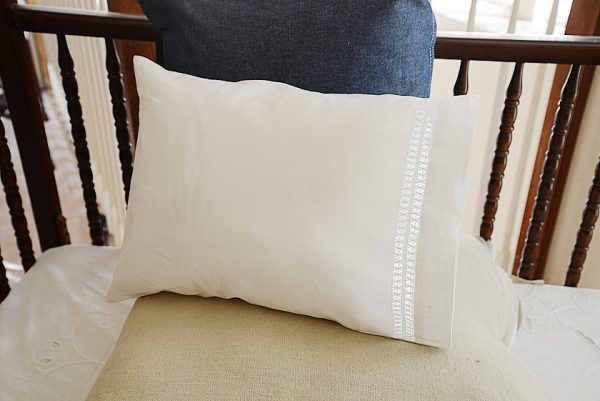 baby pillowcases, double hemstitched