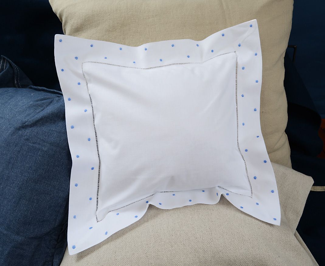 Baby Square French Blue Polka dots