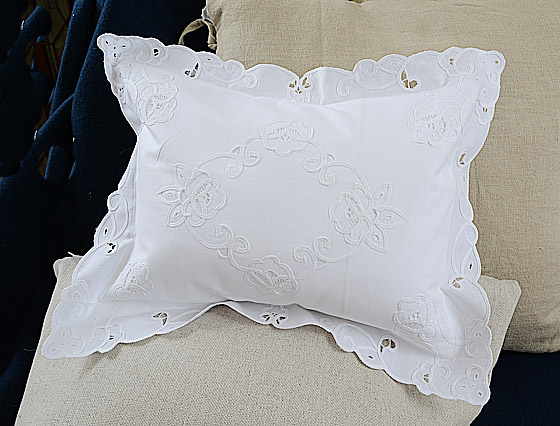 """Imperial Embroidered Baby Pillow 12x16"""""""