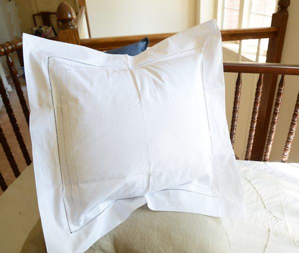 "18"" Square Pillow Sham Triple Lines Hemstitches"
