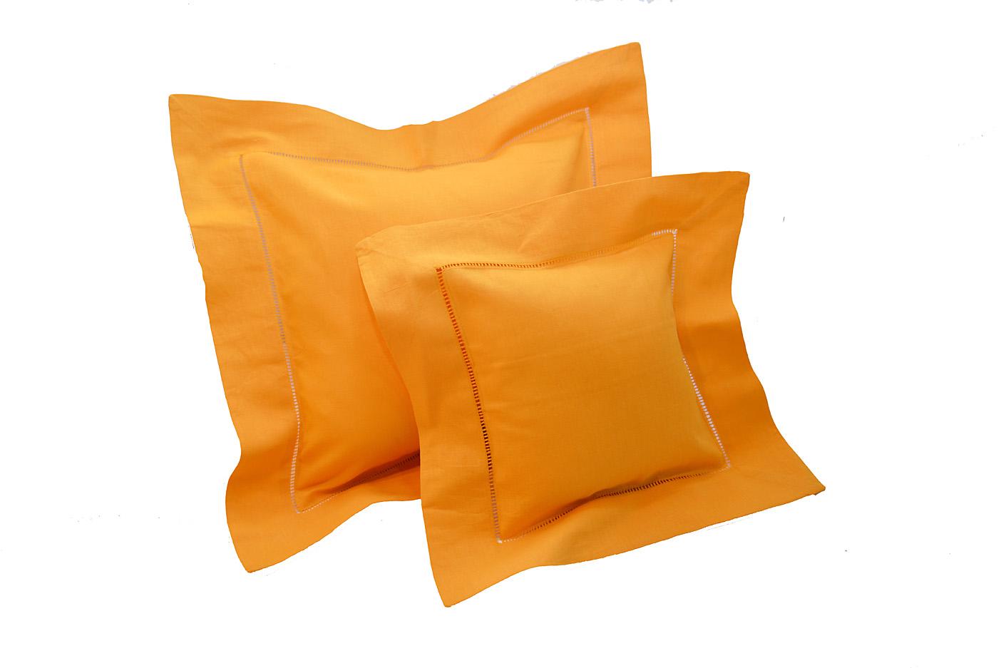 Mandarin Orange colored baby pillows