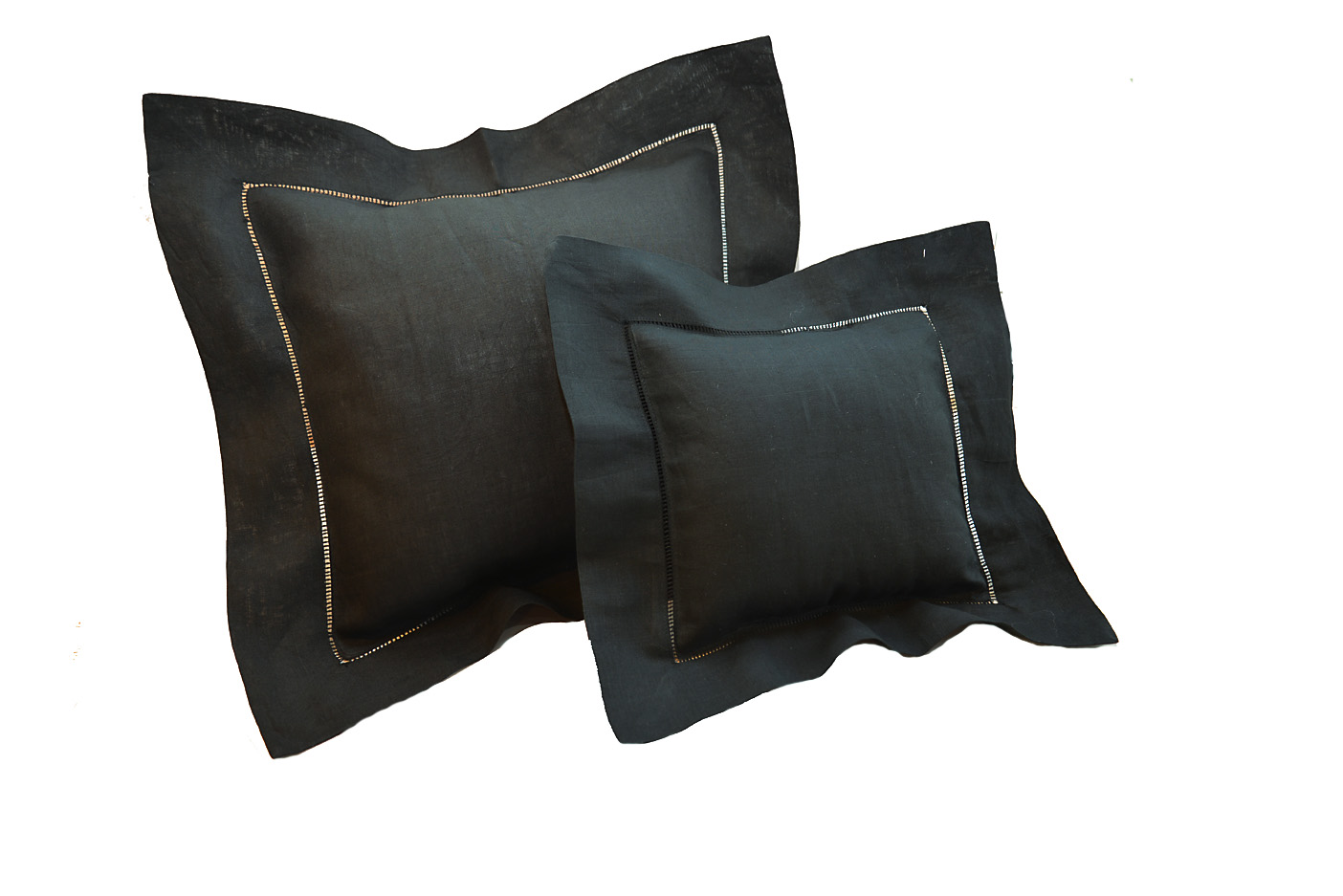 Black colored baby pillows