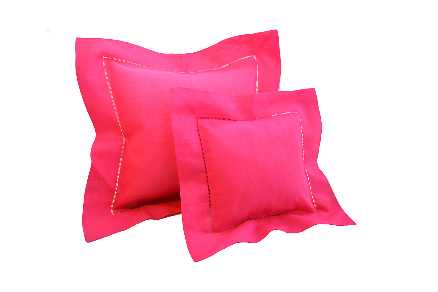 Baby Pillows. Pink Peacock colored