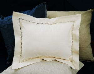 "Baby Pillow 12x16"" Pearled ivory colored"