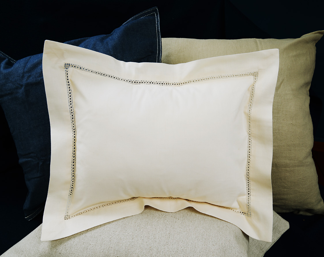 """Baby Pillow 12x16"""" Pearled ivory colored"""