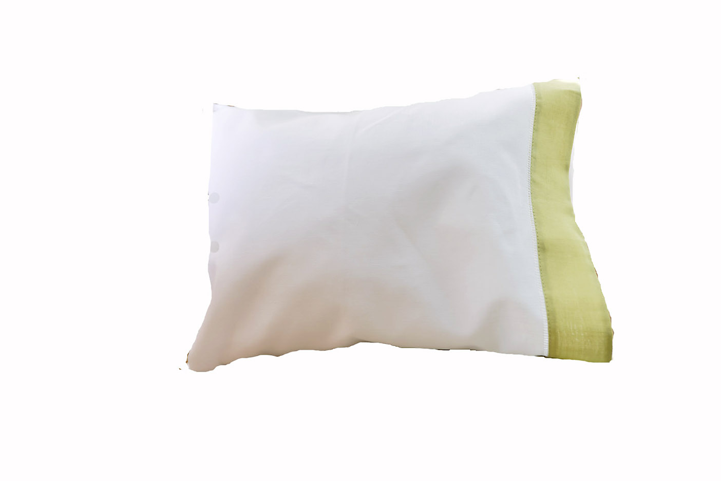 baby pillowcases celery green trimmed