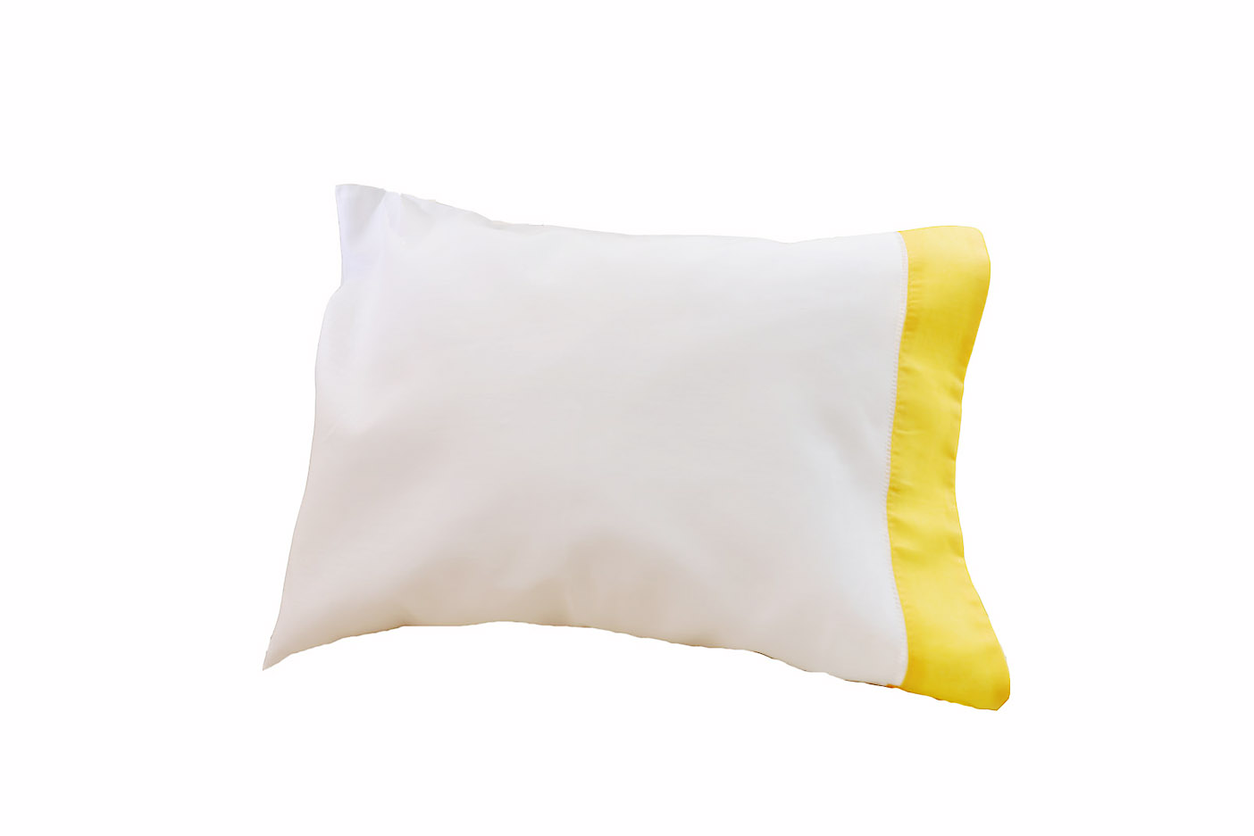 baby pillowcases lemon chrome trimmed