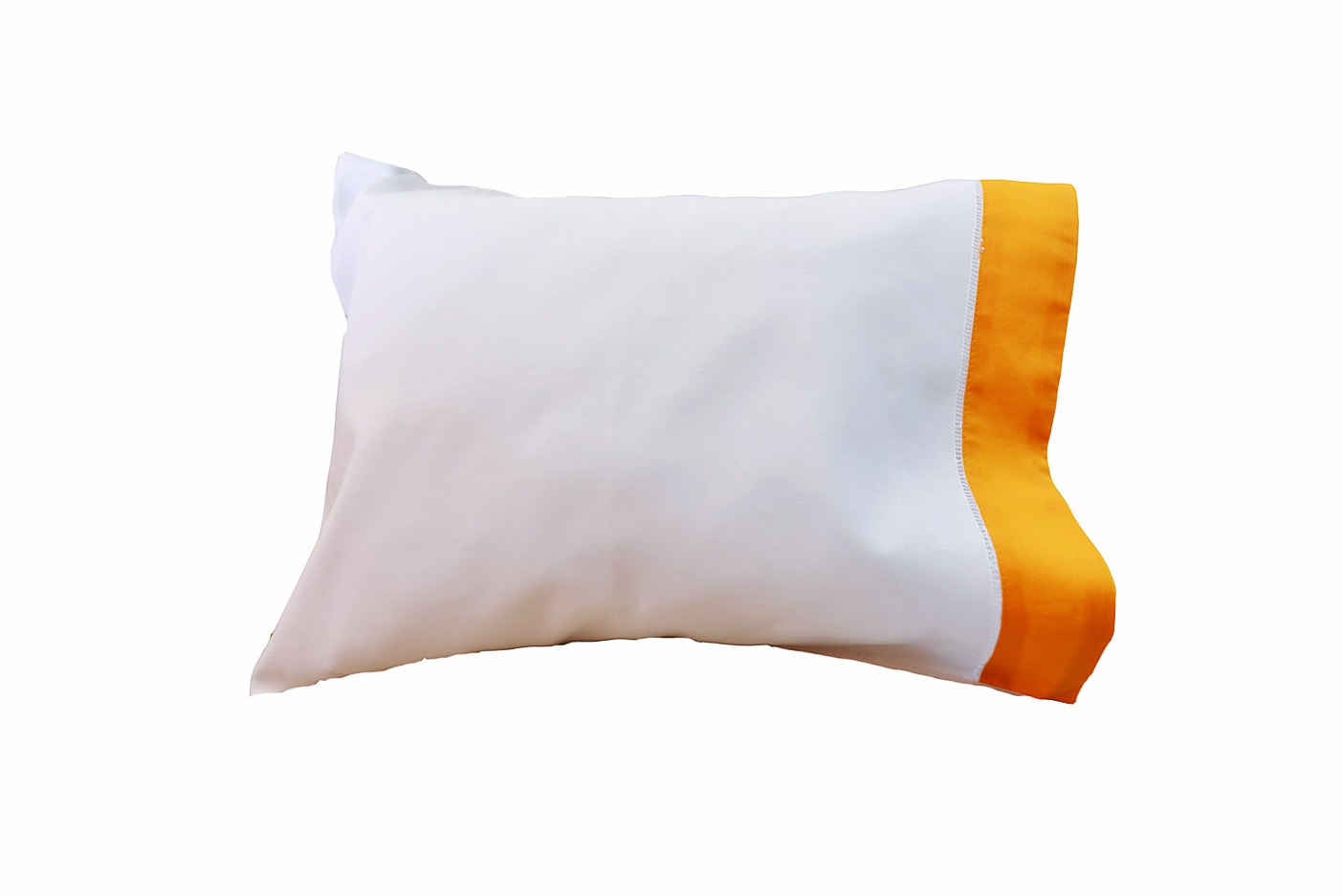 baby pillowcases orange colored trimmed