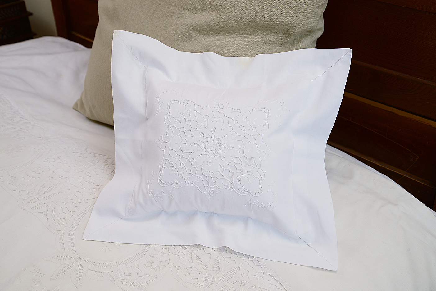 Victorian Embroidered Baby Pillow Sham